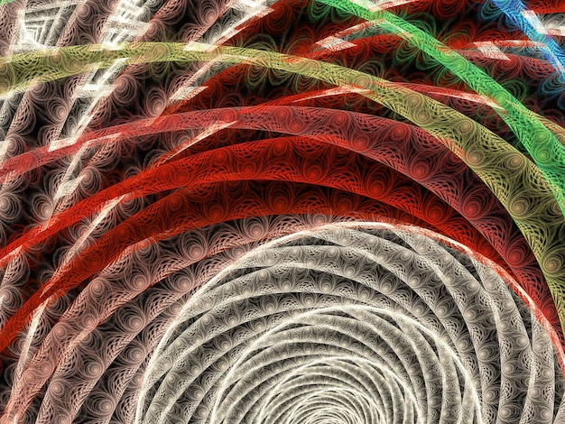 Imaginatória luxuosa textura fractal gerou imagem de fundo abstrato