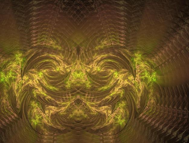 Imaginatória luxuosa textura fractal imagem de fundo abstrato