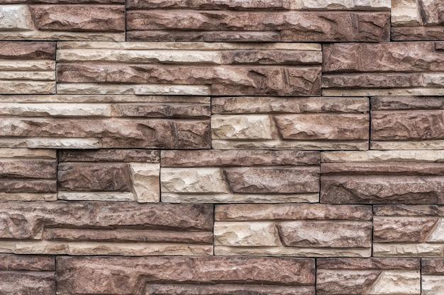 Imitação de alvenaria de tijolo de pedra artificial.