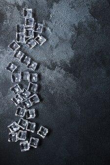 Imitação de cubos de gelo artificiais pedaços de plástico acrílico transparente não muito frio