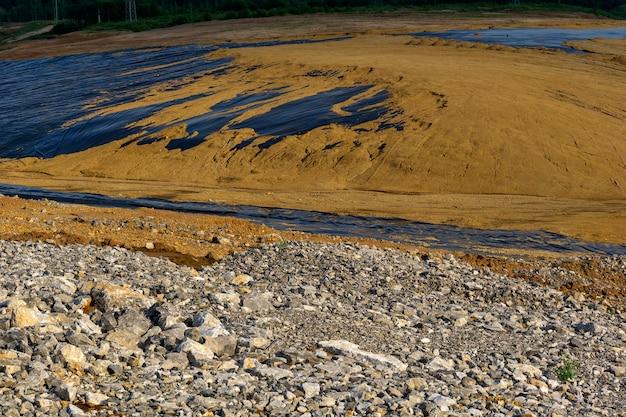 Impermeabilização na construção de reservatório para tratamento primário de lamas de esgoto