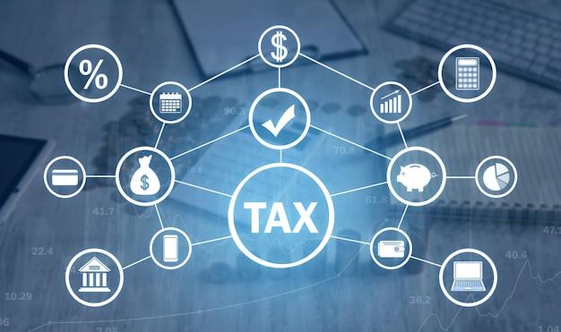 Imposto o negócio. finança. rede. tecnologia