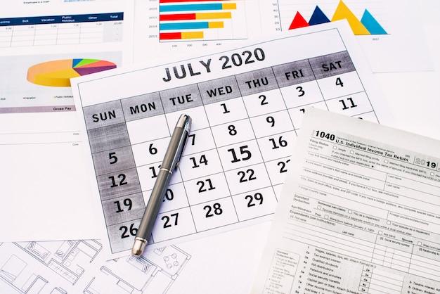 Impostos 2020, prazo de apresentação de impostos federais prorrogado até 15 de julho devido a coronavírus.