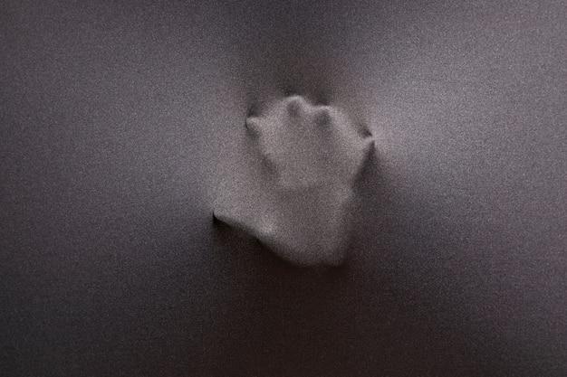 Impressão da mão no tecido