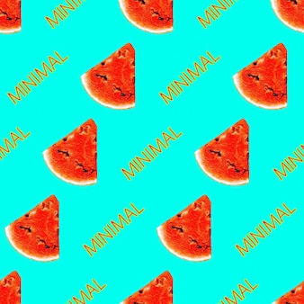 Impressão de verão tropical para camisetas de vestuário têxtil ou embrulho foto de melancia padrão sem emenda e r