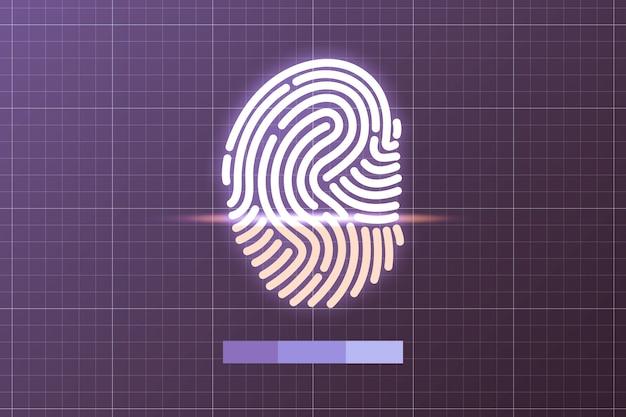Impressão digital digital para rede e conceito de segurança