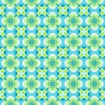 Impressão única pronta para têxteis, tecido para biquínis, papel de parede, embrulho. verde resplandecente boho chique design de verão. borda verde orgânica na moda. ladrilho orgânico.