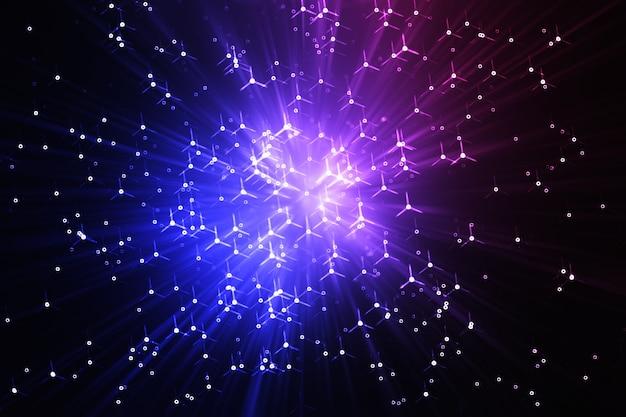 Impressionante fundo da explosão de teletransporte do espaço hd