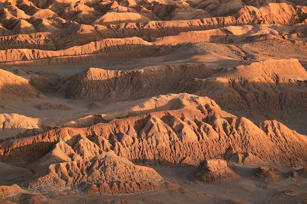 Impressionantes, formações rocha, em, a, lua, vale, ou, el vale la la, luna, deserto atacama, san pedro, atacama, norte, chile