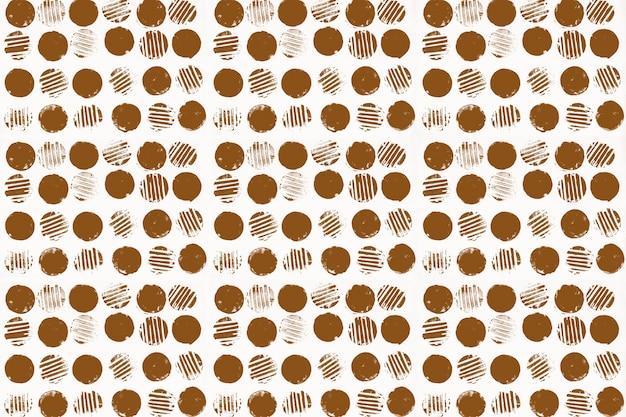 Impressões de bloco de fundo de padrão de círculo marrom