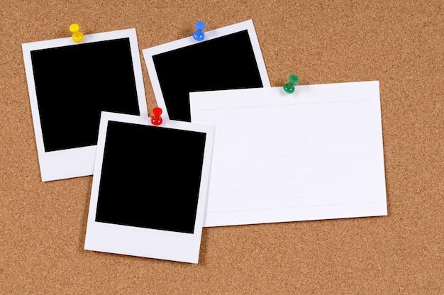 Impressões instantâneas com cartão de índice