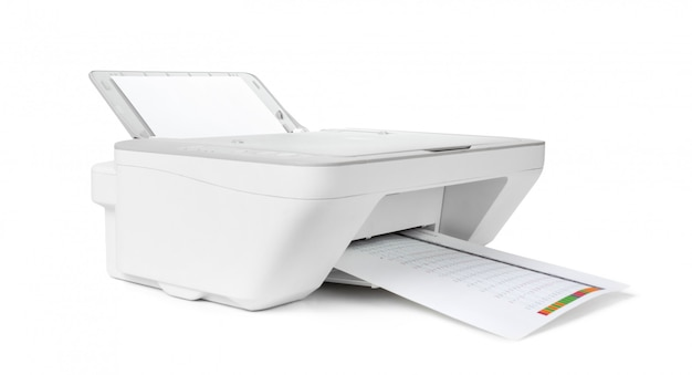 Impressora a jato de tinta isolada no branco