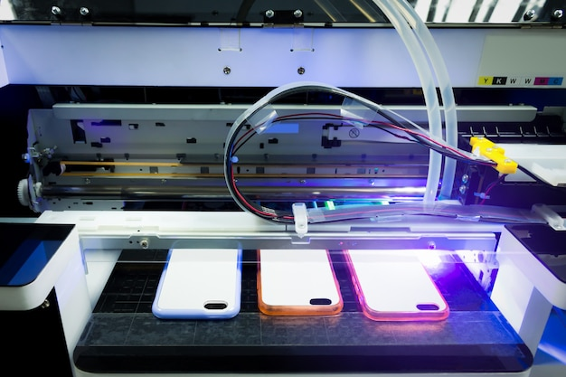 Impressora a laser digital uv para imprimir o seu negócio de smart phones.
