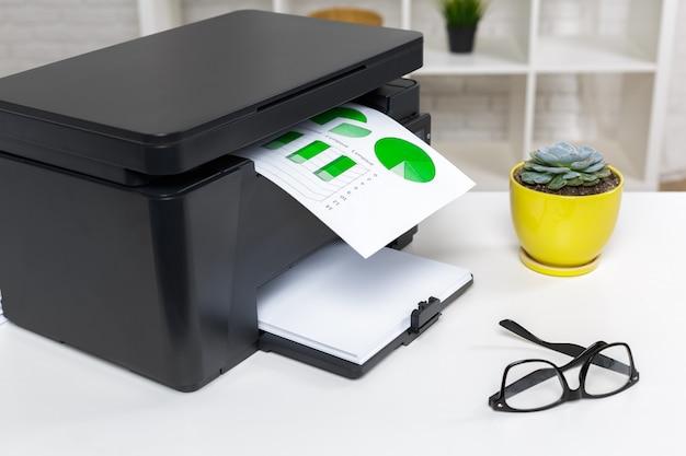 Impressora no escritório