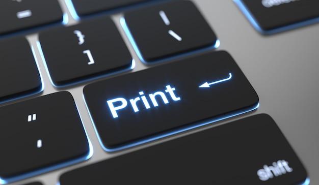 Imprima o plano de fundo. imprimir texto no botão do teclado.