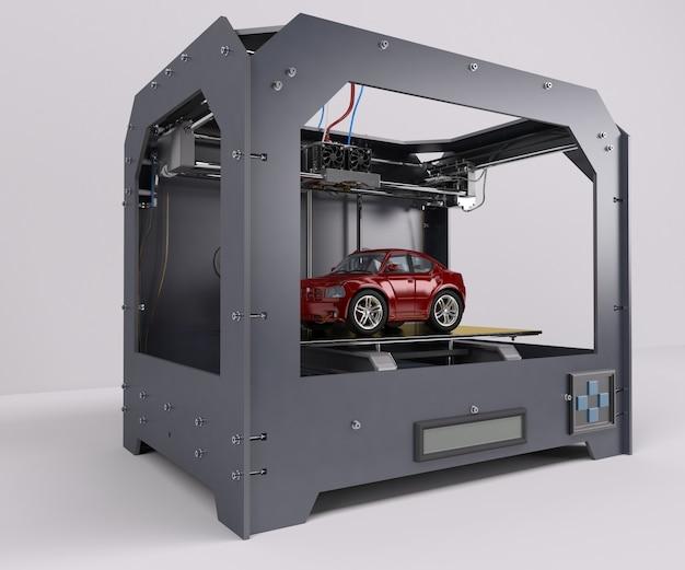 Imprimindo um carro vermelho