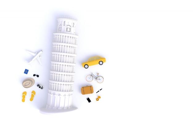 Inclinada, torre, de, pisa, itália, europa, italiano, arquitetura