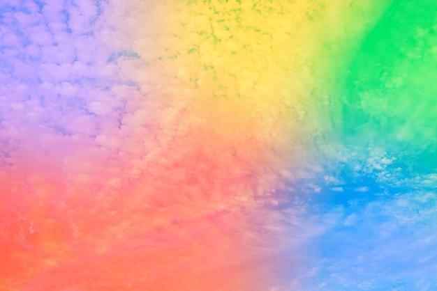 Incrível céu de belas artes com nuvens coloridas