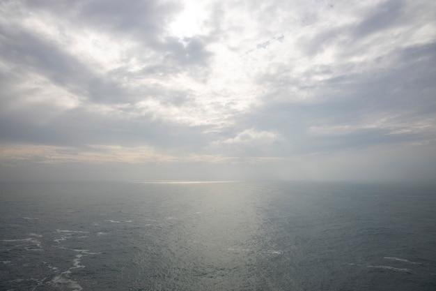 Incrível paisagem do mar e céu dramático