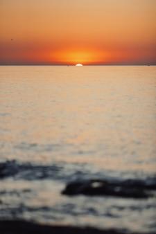 Incrível por do sol no mar