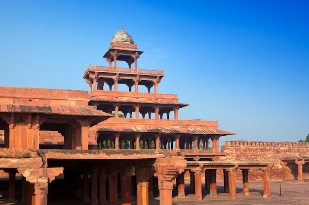 Índia. a cidade destruída de fatehpur sikri.