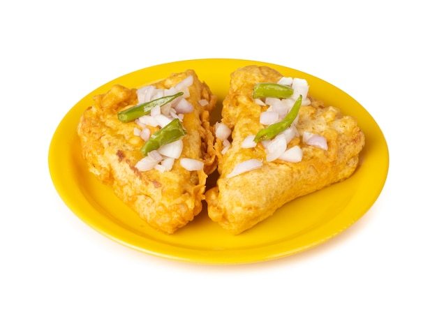 Indian popular tea time snack pão pakora