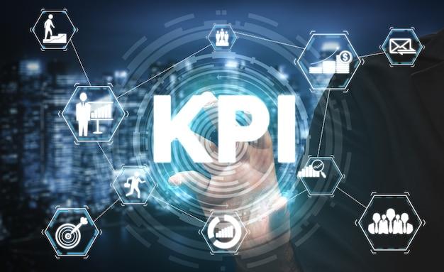 Indicador-chave de desempenho kpi para negócios