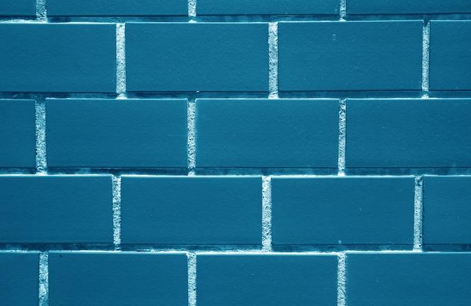 Índigo, parede de tijolos coloridos em azul marinho, para segundo plano