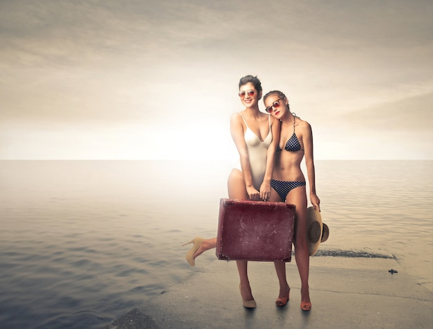 Indo de férias
