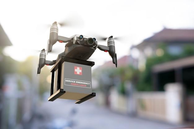 Indústria de dispositivos de engenharia de tecnologia de drones voando