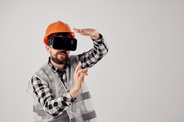 Indústria de estúdio de design técnico de trabalho de construção trabalhador masculino