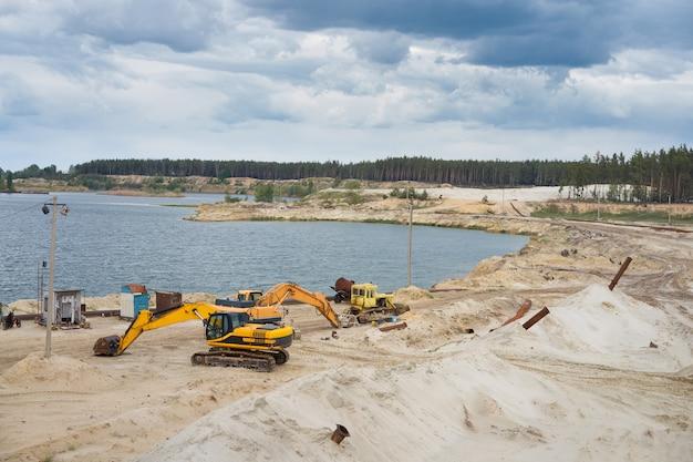 Indústria de mineração de pedreira de areia