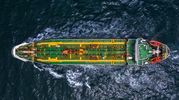 Indústria de petróleo e gás de negócios de transporte e logística para navios petroleiros em mar aberto