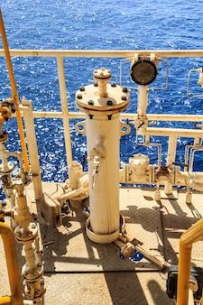 Indústria offshore de oleoduto e produção de gás