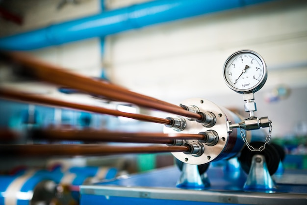 Industrial dez com um regulador de temperatura