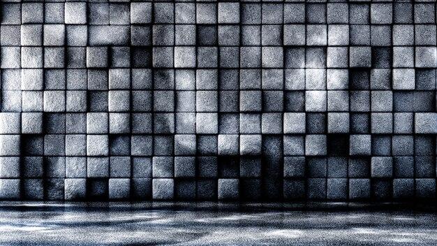 Industrial, pedra, textura grunge plano de fundo com geometria. ilustração 3d