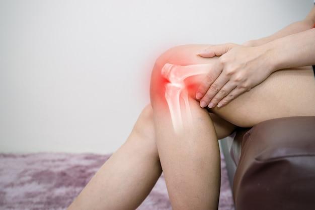 Inflamação de osteoartrite de perna humana de articulações ósseas