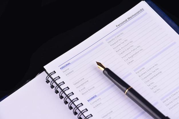 Informações pessoais a serem preenchidas - muitos usos para negócios