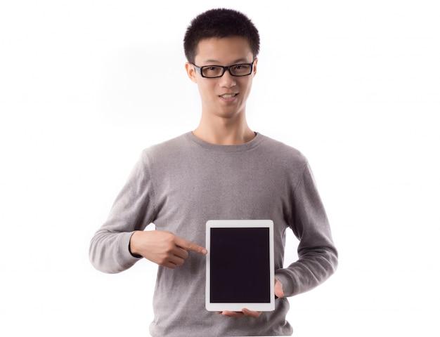 Informações touchscreen mostrando equipamentos dotados
