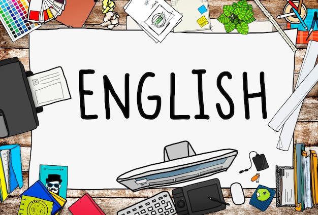Inglês britânico inglaterra conceito de educação de idiomas