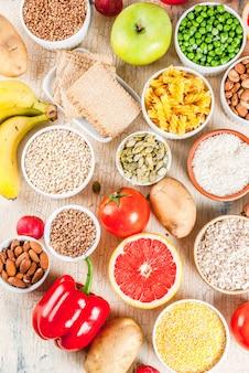 Ingredientes alimentares saudáveis para carboidratos