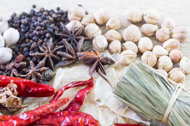 Ingredientes alimentares tailandeses