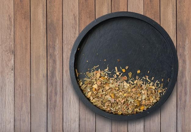 Ingredientes alternativos de ervas tailandesas