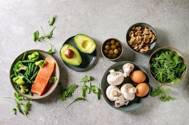 Ingredientes da dieta cetogênica