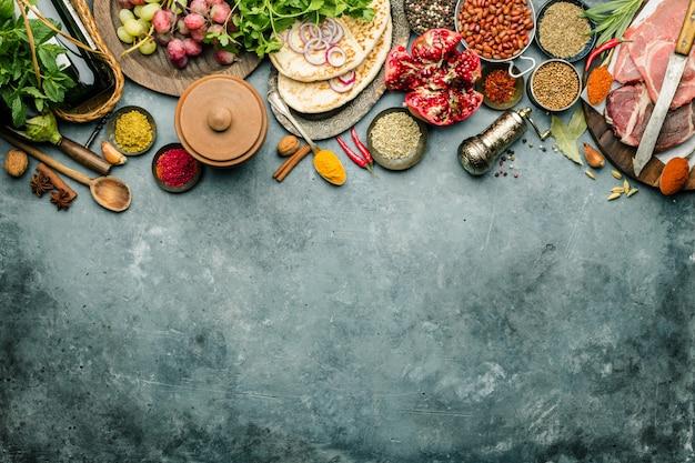 Ingredientes da tradição árabe ou do oriente médio