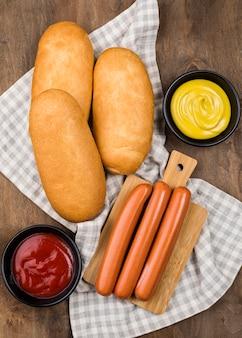 Ingredientes de cachorro-quente
