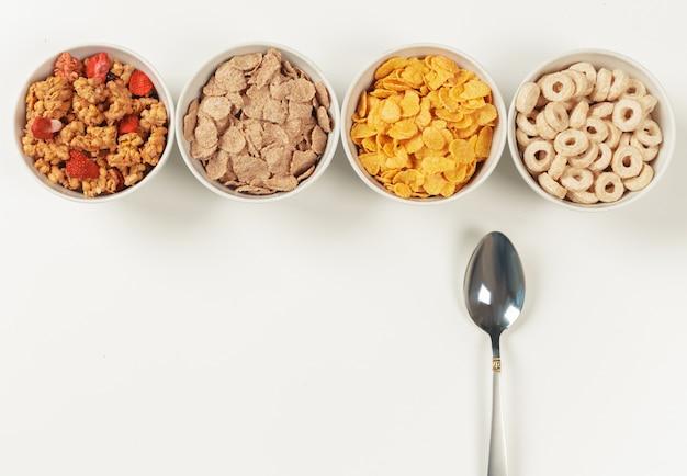 Ingredientes de café da manhã dieta saudável