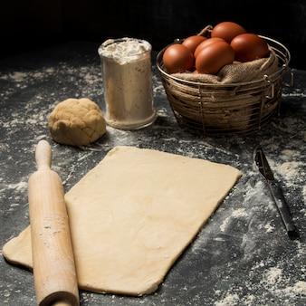 Ingredientes de cozinha em close-up