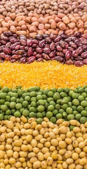 Ingredientes de farinha de aveia colher de plantas cereais