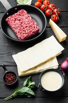 Ingredientes de lasanha de carne